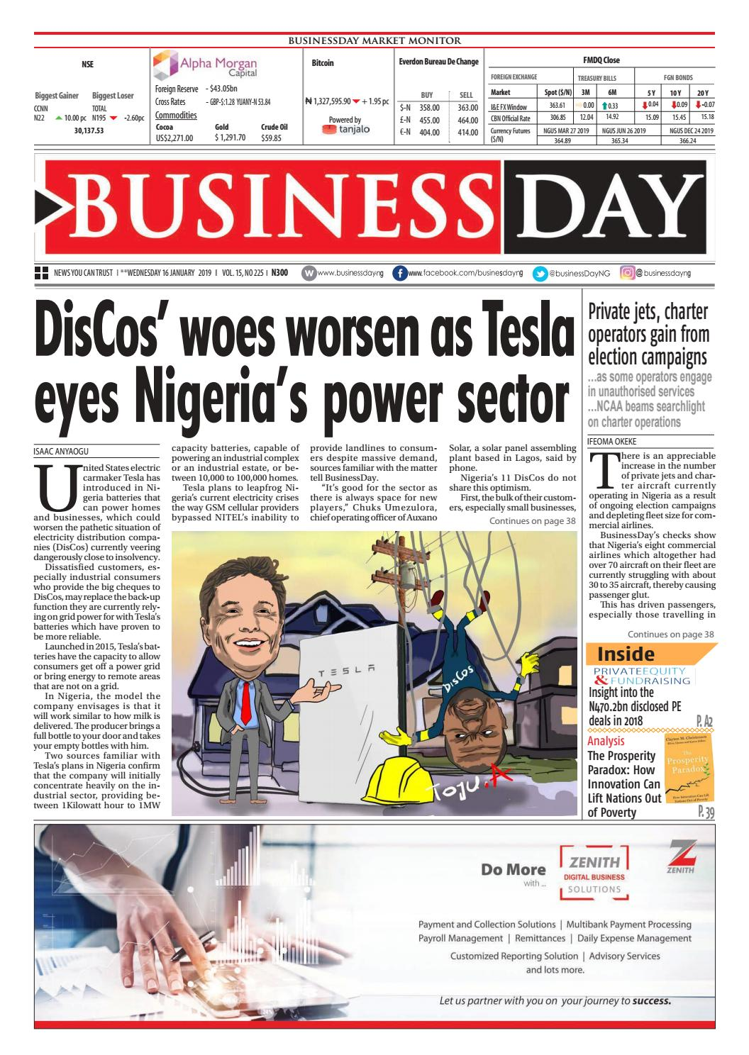 BusinessDay 16 Jan 2019 by BusinessDay - issuu