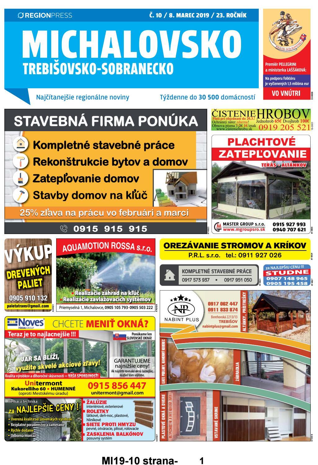 8c16dbb600b0 Michalovsko 19-10 by REGIONPRESS - Michalovsko - issuu