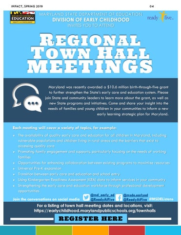 Page 4 of Regional Town Hall Meetings