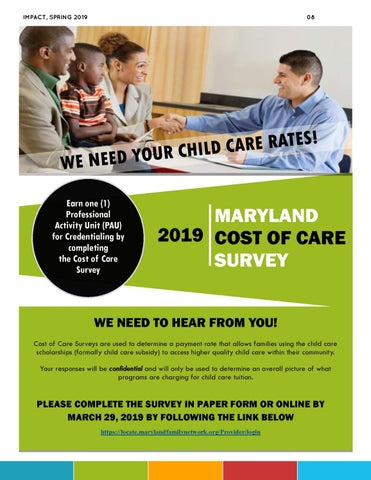 Page 8 of Cost of Care Survey