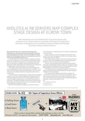 Page 9 of Avolites Map Complex Stage Design at elrow Town