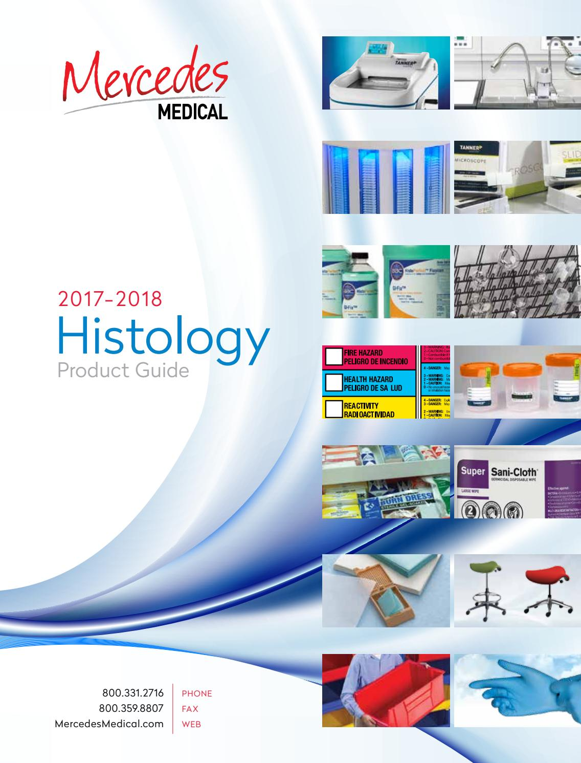 Histology Product Guide 2017-2018: Mercedes Scientific by