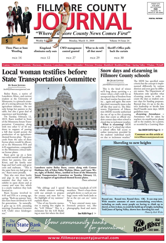 Fillmore County Journal - 3/11/2019 by Jason Sethre - issuu