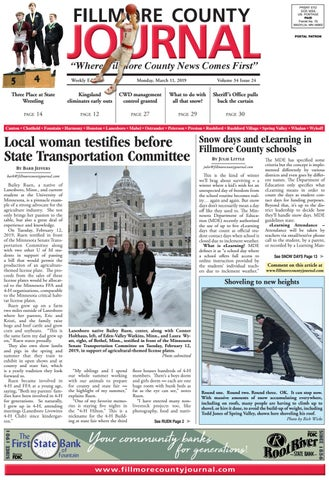 Fillmore County Journal - 3/11/2019 by Jason Sethre - issuu
