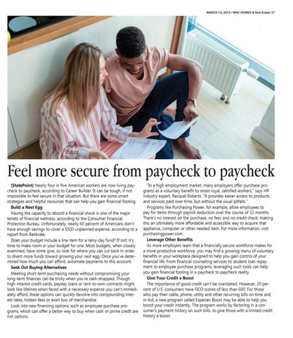 Page 37 of Feel more secure between paychecks