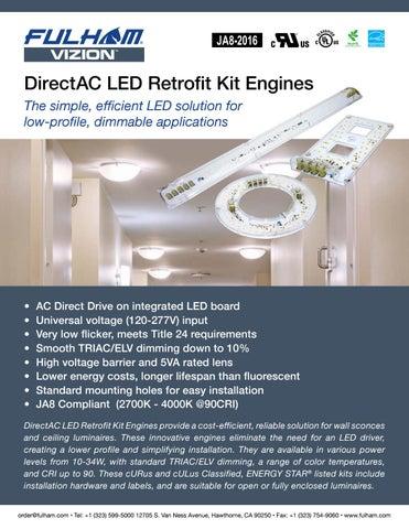 Fulham DirectAC LED Retrofit Kits by Fulham Co , Inc  - issuu