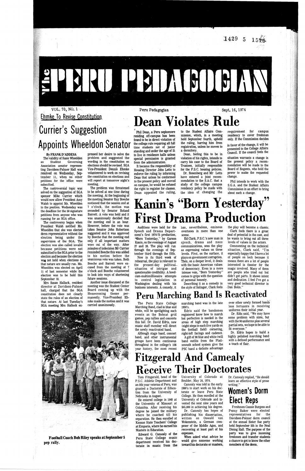 a1a44e0e4 1974-1975 Peru Pedagogian by Peru State College Library - issuu