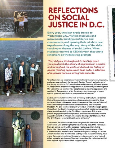 Page 18 of Reflections on Social Justice in D.C.