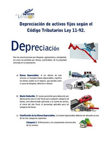 Porcentaje de depreciacion de edificios