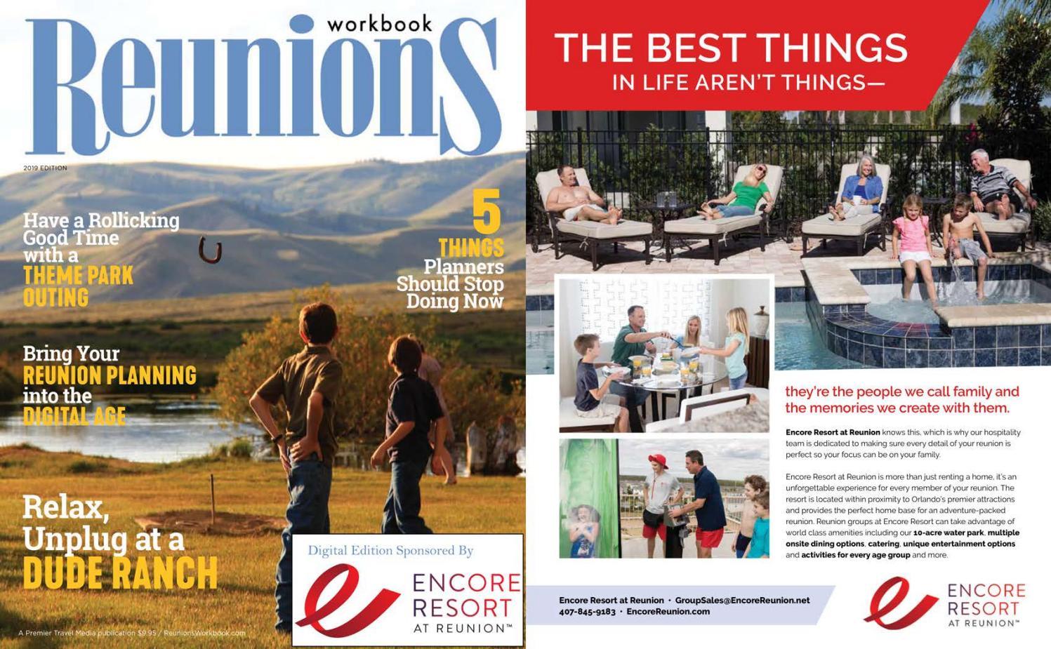 912bbc7b Reunions Workbook 2019 Edition by Premier Travel Media - issuu