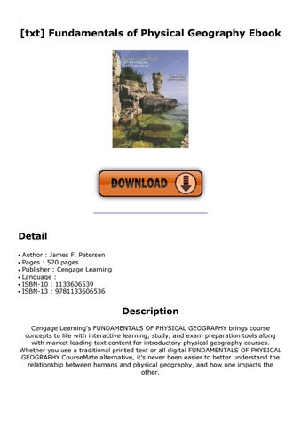 Fundamentals Of Physical Geography By Mail Cart474 Issuu