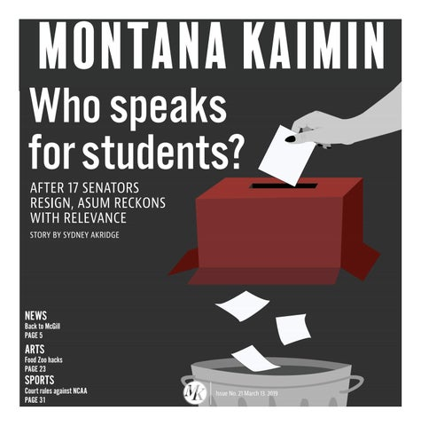 Doe Issues 39th Annual Report To >> Montana Kaimin Issue No 21 March 13 By Montana Kaimin Issuu