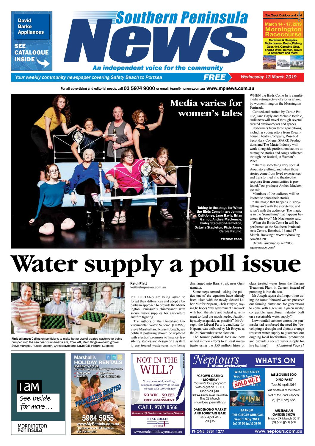 096104189913c 12 March 2019 by Mornington Peninsula News Group - issuu