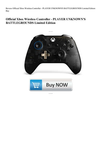 Review Official Xbox Wireless Controller Player Unknown S