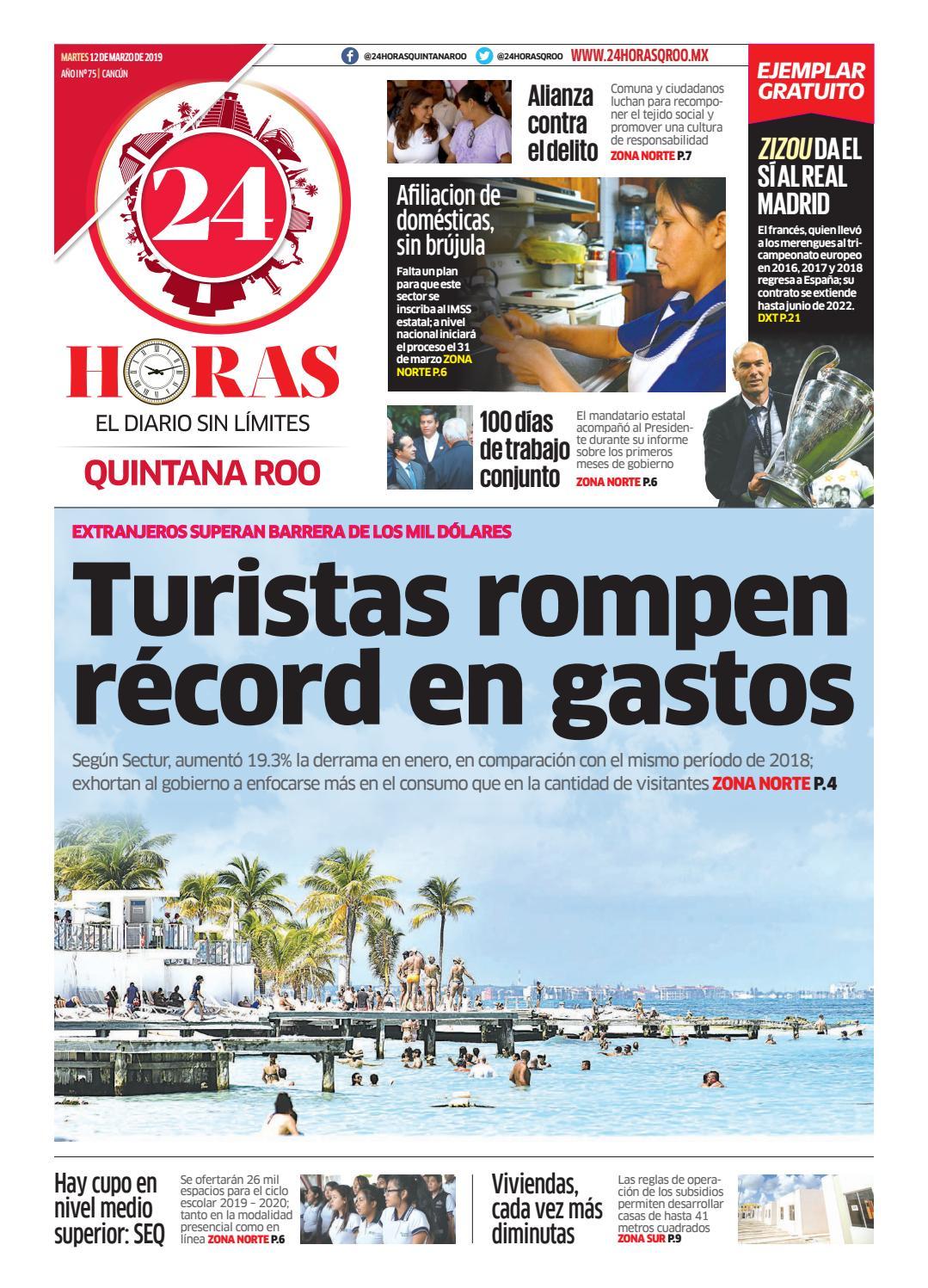 1bf521b7a 24 Horas Quintana Roo: 12 de Marzo 2019 by 24 Horas Quintana Roo - issuu