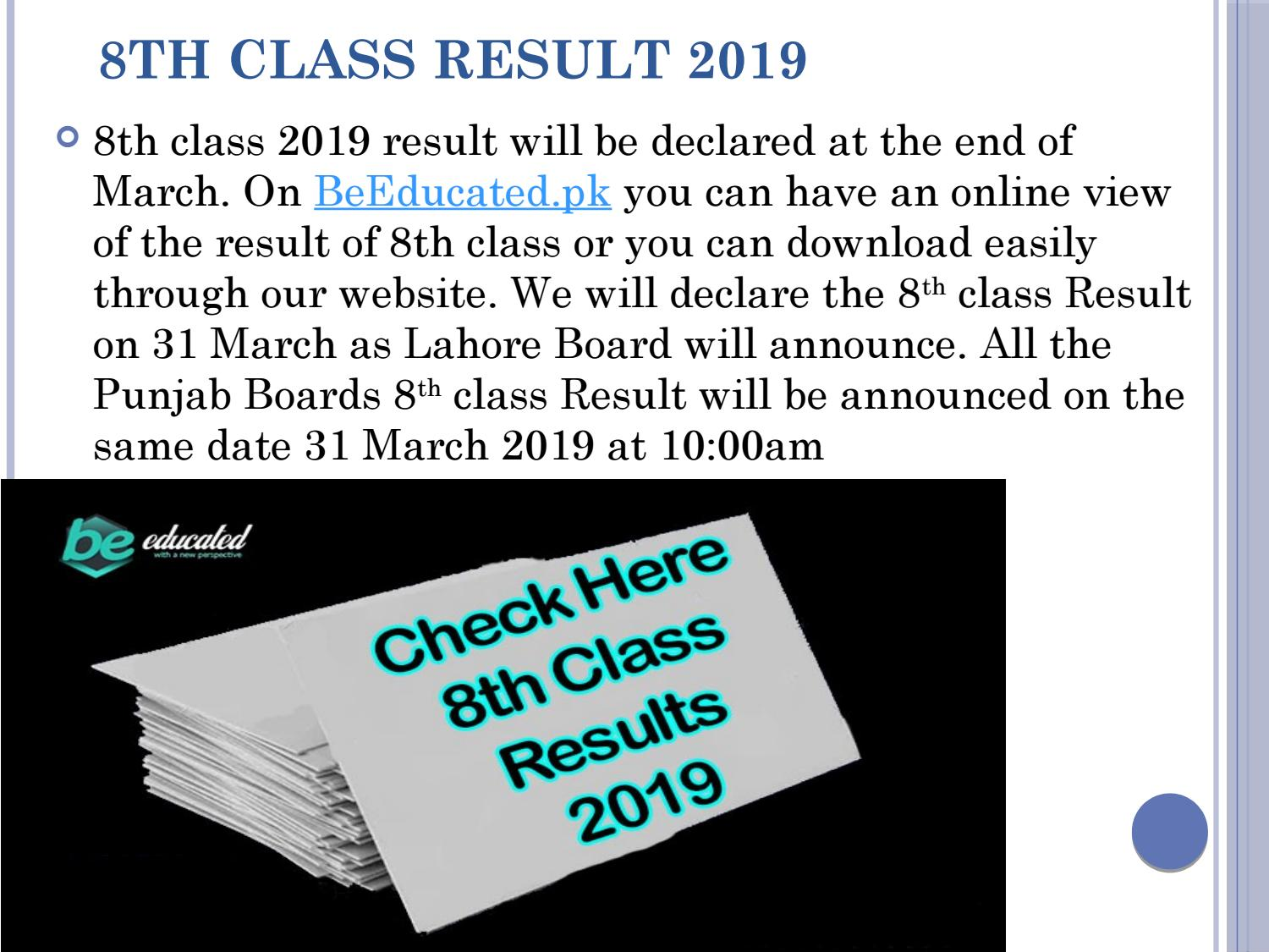 8th class result 2019 by jessica3006 - issuu