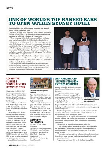 Page 8 of AHA National CEO Stephen Ferguson extends contract
