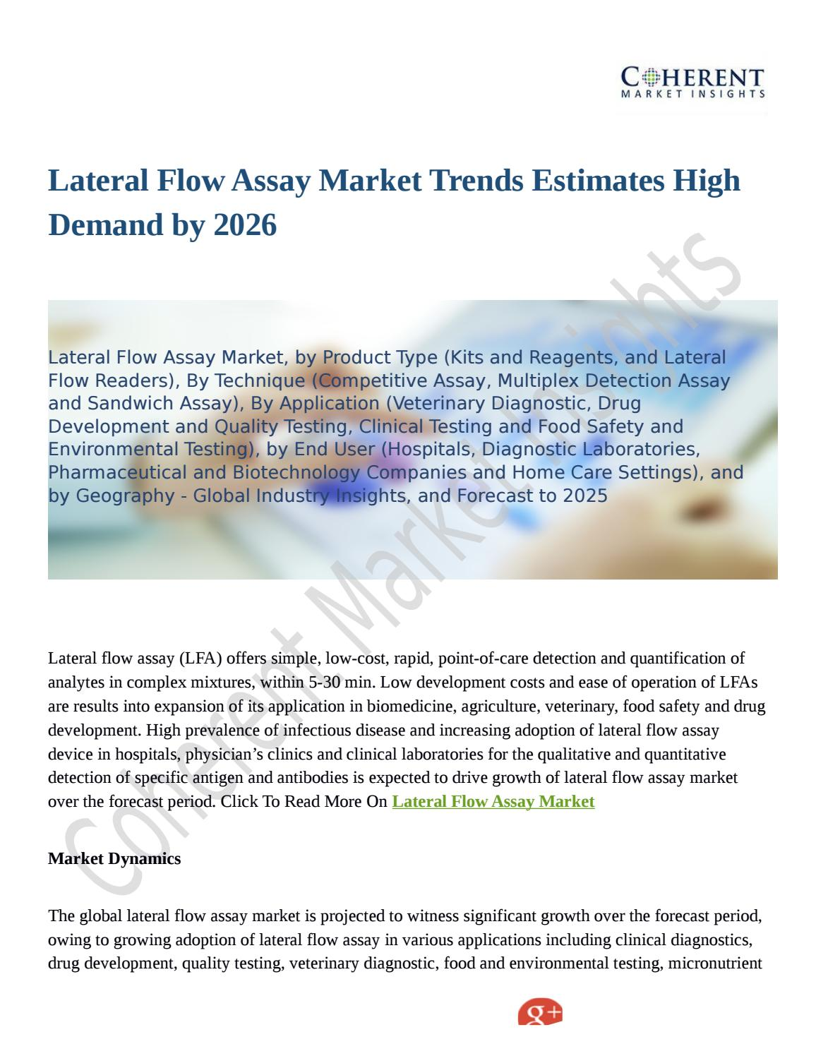 Lateral Flow Assay Market Trends Estimates High Demand by
