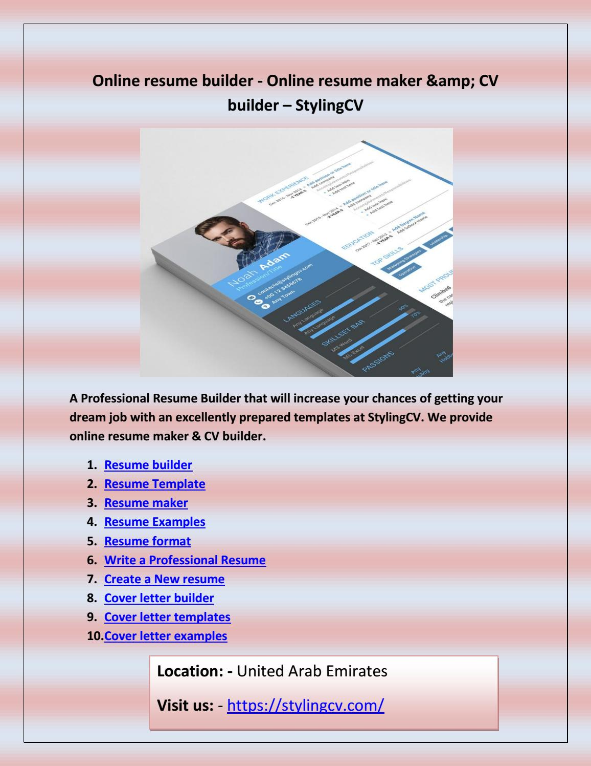 Cover letter builder by Video player for Mac - issuu