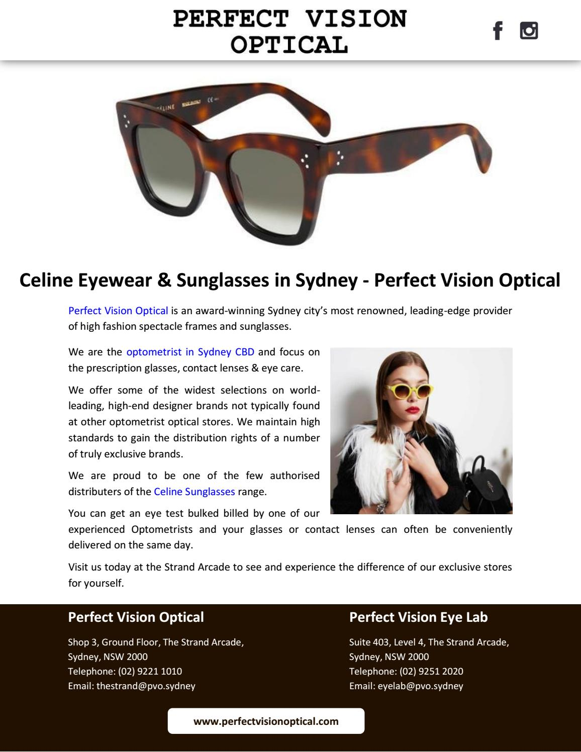 Vision Optical Eyewearamp; Sunglasses Sydney Celine In Perfect By nO08wPk