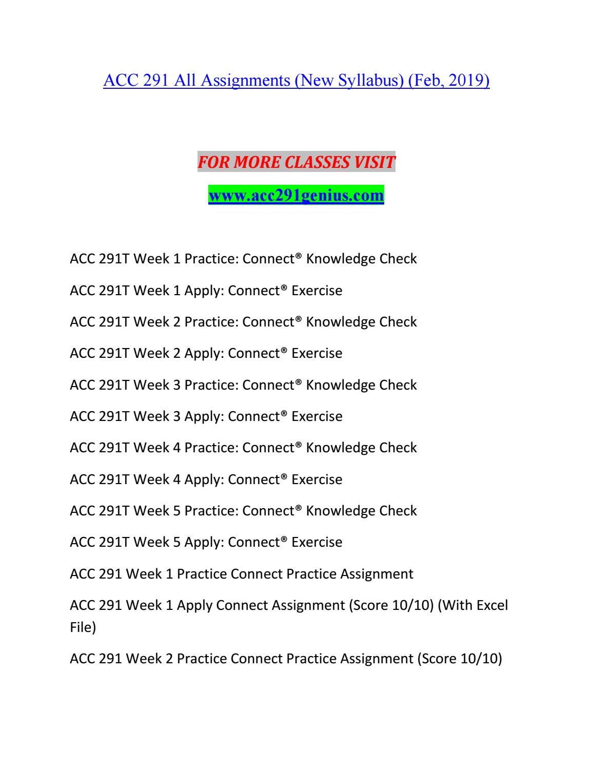 ACC 291 GENIUS Best Educational--acc291genius com by sum