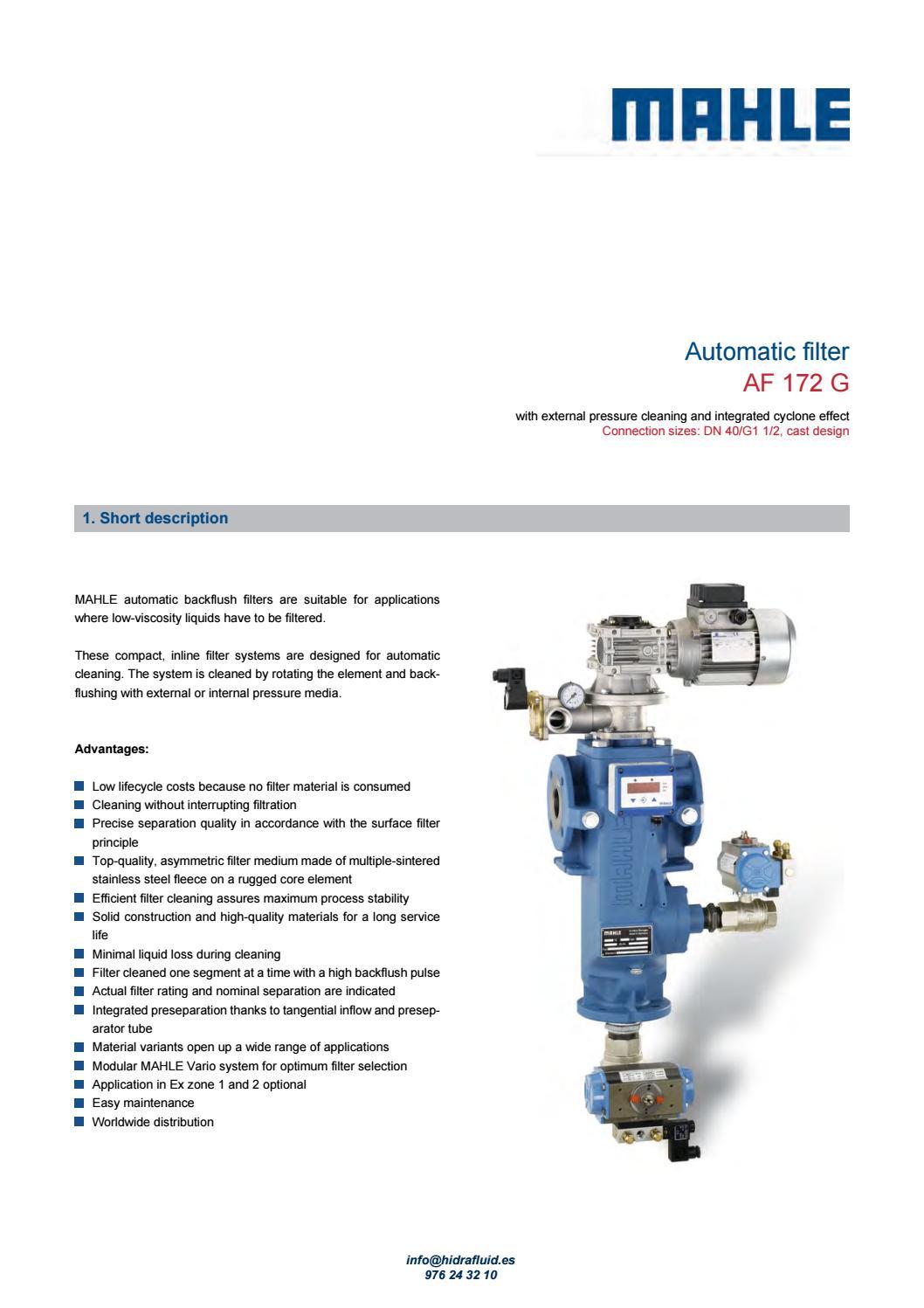 FILTRO AUTOLIMPIANTE AF 172 MAHLE by hidrafluid - issuu