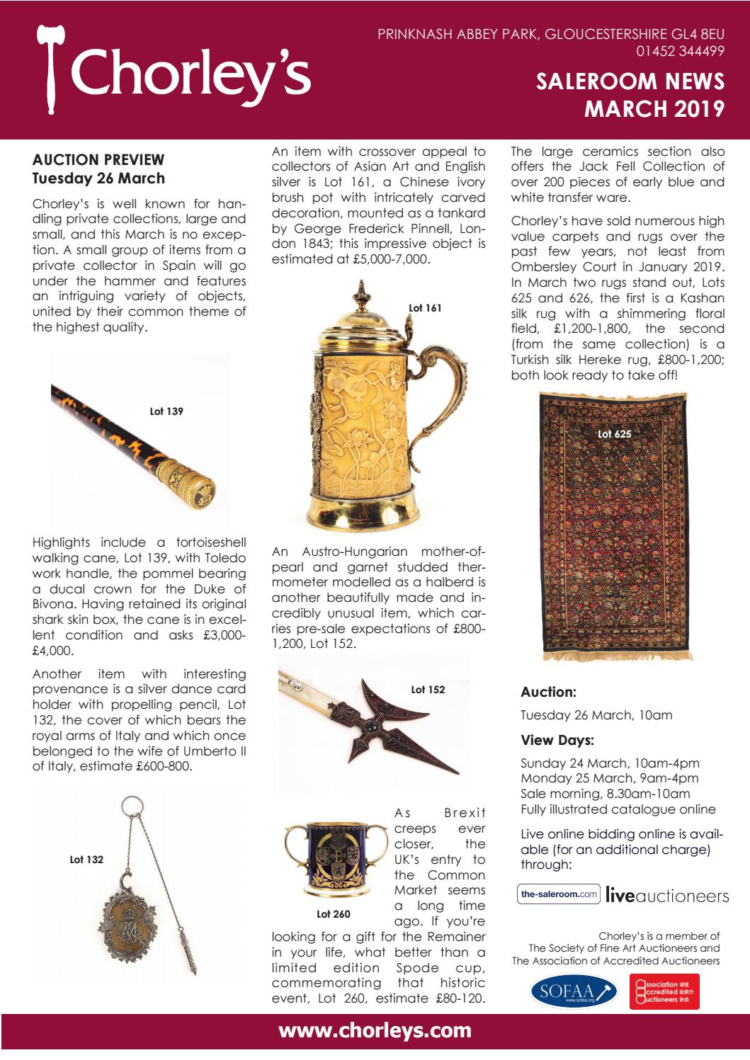 Chorley's Newsletter   March 2019 by Chorley's - issuu