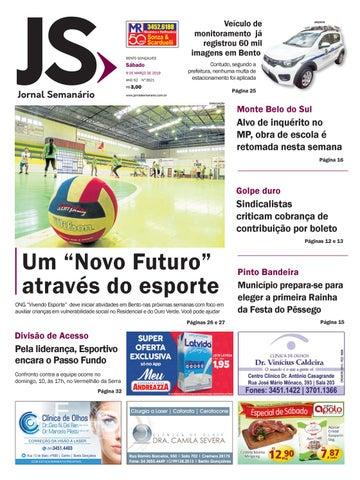 bafbcd733ec06 Jornal Semanário – 09 de março de 2019 – ano 52 – nº 3521. from Jornal  Semanário - Bento Gonçalves ...