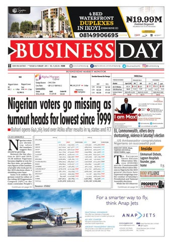 e66ebab96c7cc BusinessDay 26 Feb 2019 by BusinessDay - issuu