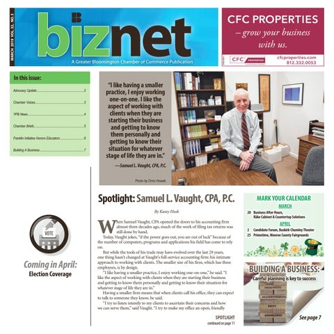 Page 1 of Spotlight: Samuel L. Vaught, CPA, P.C.