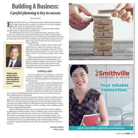 Page 7 of Building a Business: Careful planning is key to success