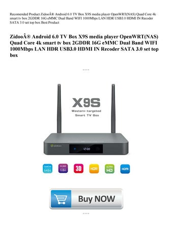 Recomended Product Zidoo® Android 6 0 TV Box X9S media player