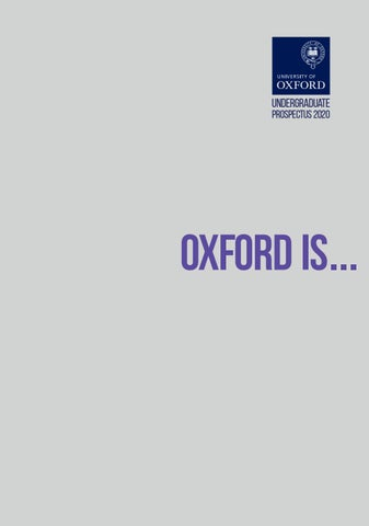 Undergraduate prospectus 2020 by University of Oxford - issuu