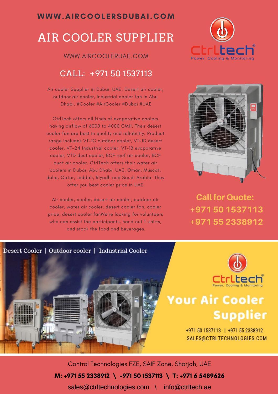 Desert air cooler, outdoor air cooler, Industrial cooler fan
