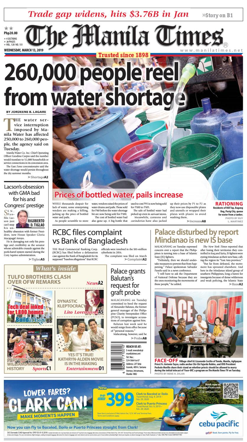 THE MANILA TIMES | MARCH 13, 2019 by The Manila Times - issuu