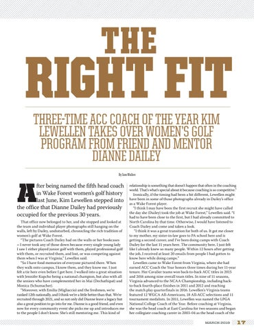 Page 17 of Women's Golf Coach Kim Lewellen: The Right Fit