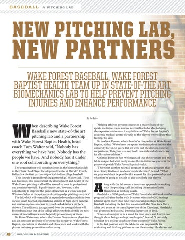 Page 6 of Wake Forest Baseball: In the Lab