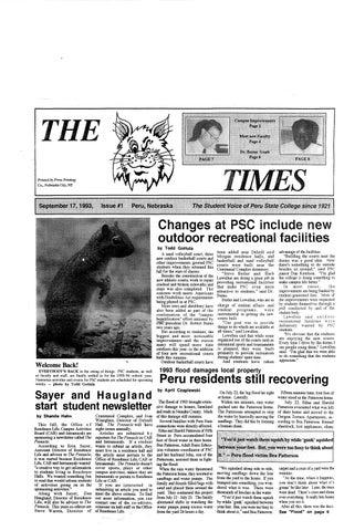 0815ede0409 1993-1994 The Times (Peru, NE) - issues 1-8 by Peru State College ...