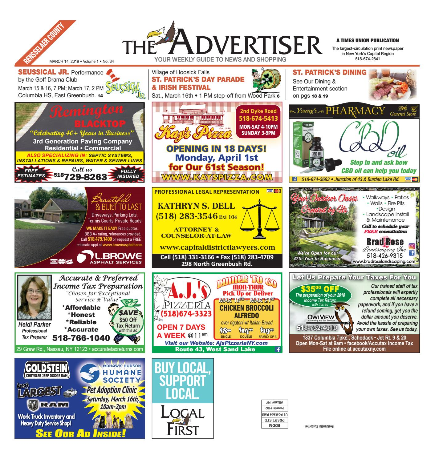 fa6b27d9ade Local First The Advertiser 031419 by Capital Region Weekly ...