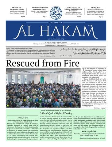 Al Hakam - 08 June 2018 by Alhakam - issuu