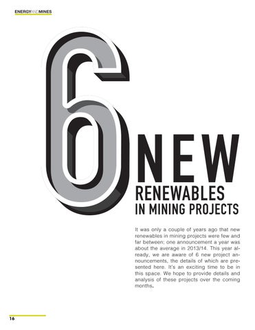 Page 16 of 6 New Renewables in Mining Projects