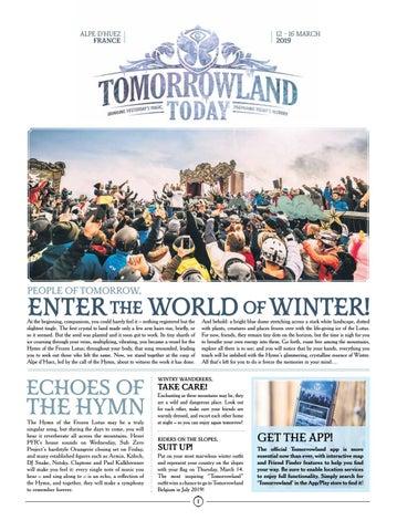 Tomorrowland Today – Winter 2019 – Edition 2 by Tomorrowland - issuu
