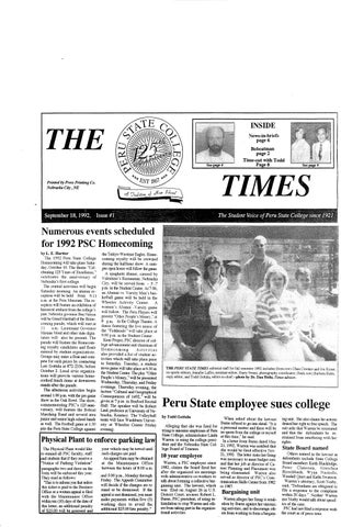 outlet store 4e724 22ad8 1992-1993 The Times (Peru, NE) - issues 1-10 by Peru State College ...