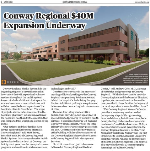 Page 6 of Conway Regional $40 million expansion underway