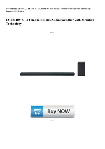 bba916998 Recomended Review LG SK10Y 5.1.2 Channel Hi-Res Audio Soundbar with  Meridian Technology Recomended R
