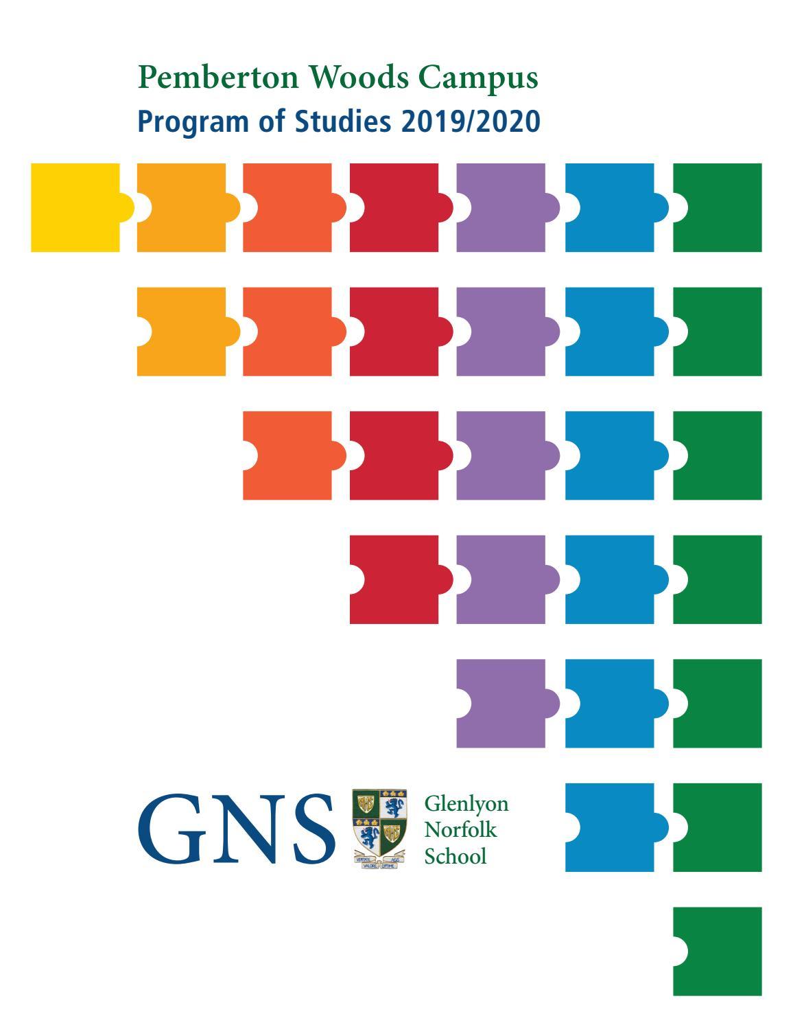 Pemberton Woods Campus Program of Studies 2019/2020 by