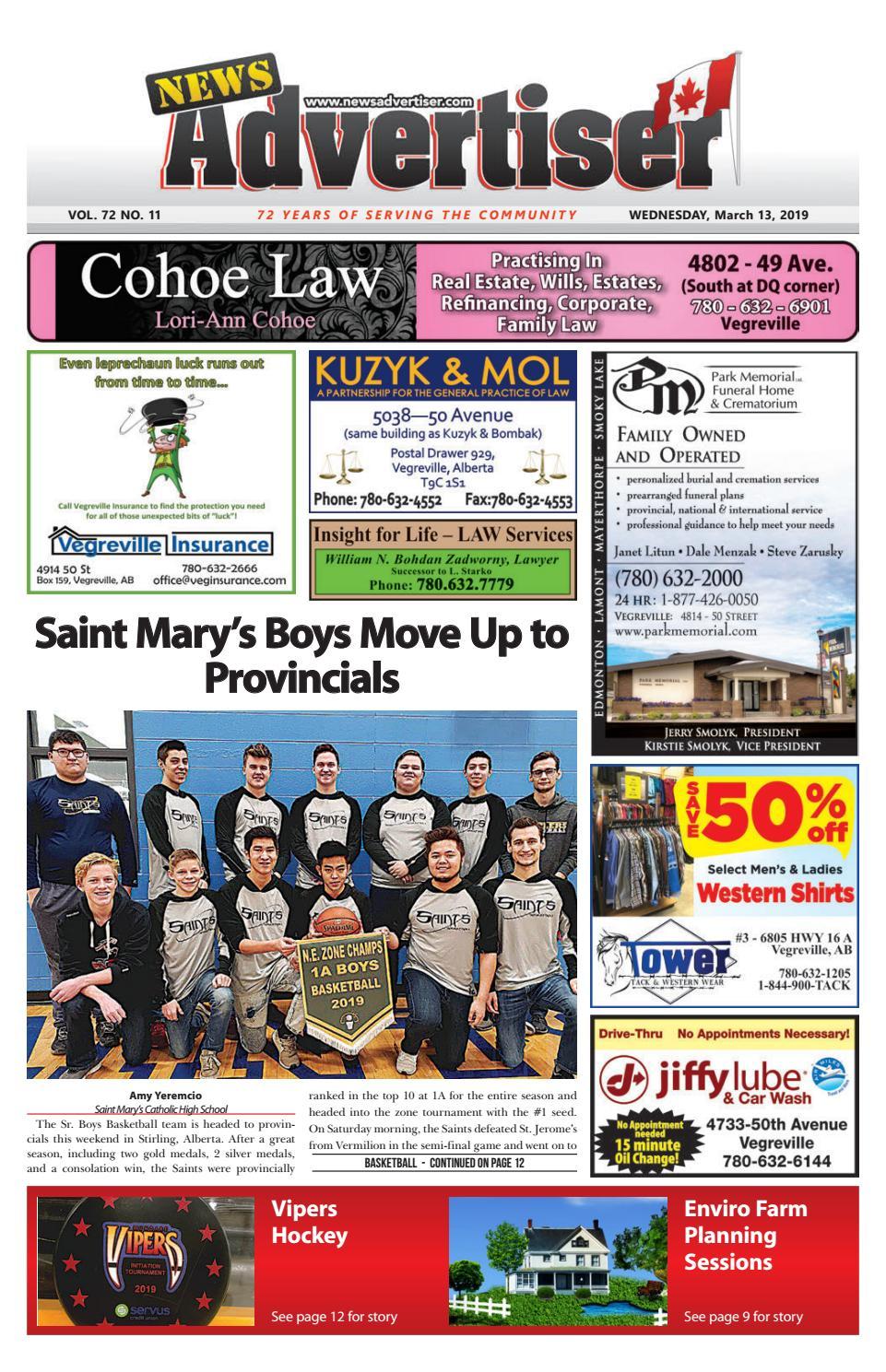 104666d551c5 Vegreville News Advertiser - March 13
