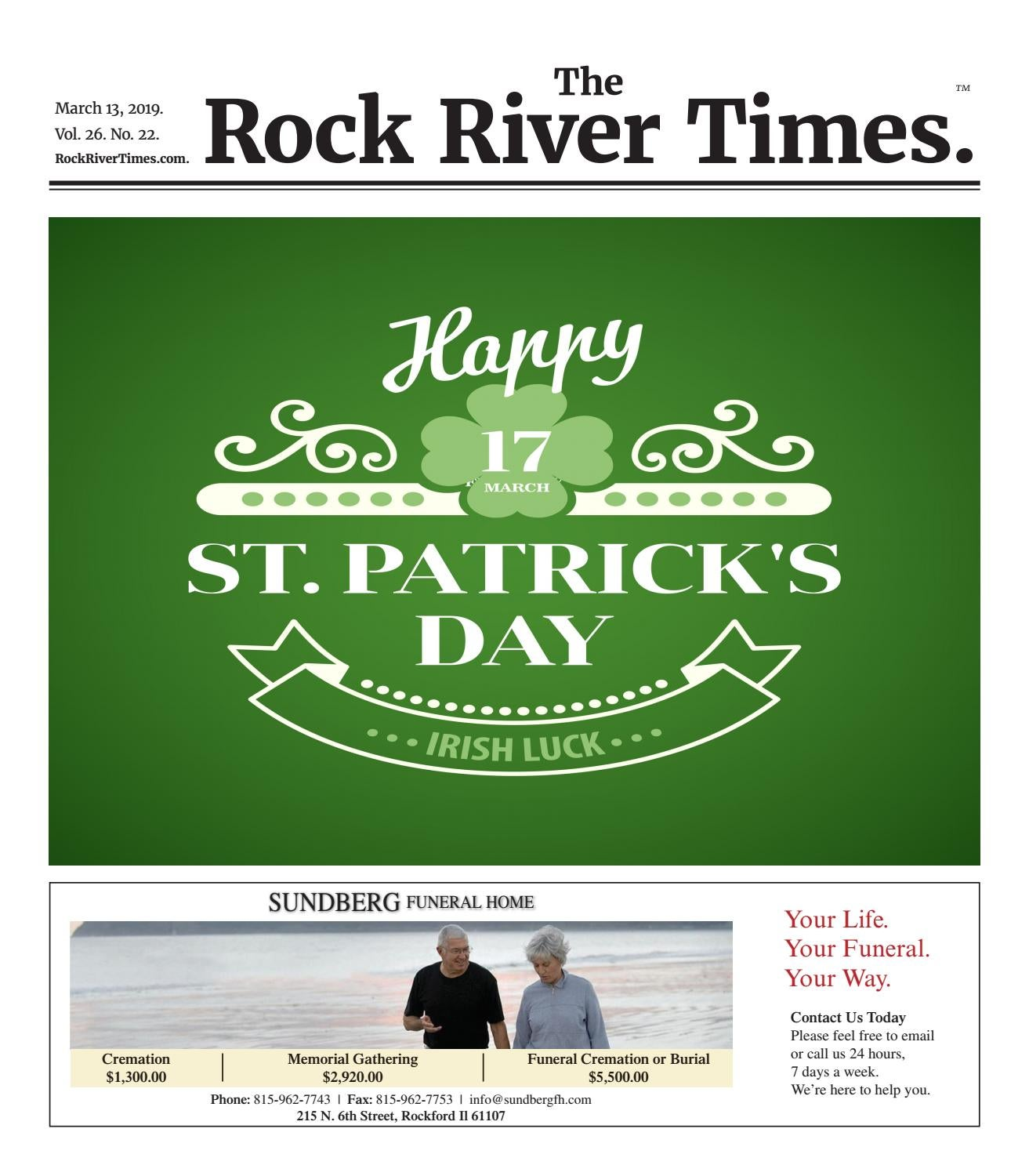 The Rock River Times – March 13, 2019 by Rock River Times