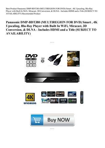 Best Product Panasonic DMP-BDT380 (MULTIREGION FOR DVD