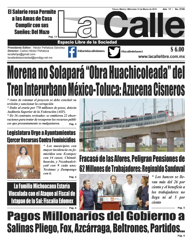 La Calle Miércoles 13 De Marzo By Diario La Calle Issuu